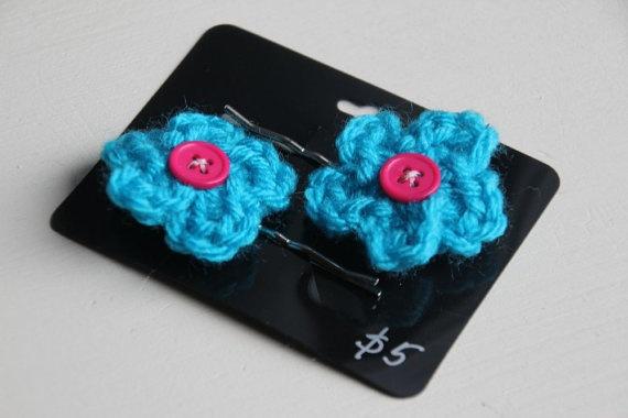 Crochet Hair Pins : crochet hair pins... Crochet Pinterest