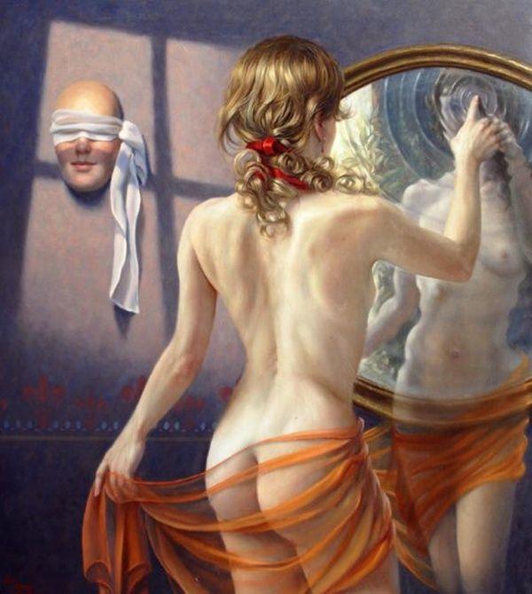 Alex Alemany: Mujer de agua - Oleo sobre lienzo