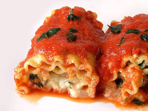 Lasagna Rolls with Roasted Red Pepper Sauce by Back to the Cutting ...