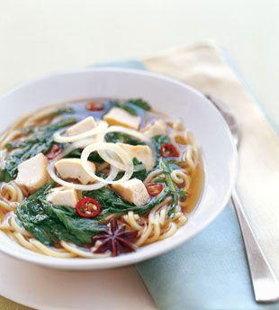 Roast Chicken Noodle Soup with Chrysanthemum - Bon Appétit
