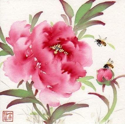 """""""Joyful Garden"""" - Original Fine Art for Sale - © Jinghua Gao Dalia"""