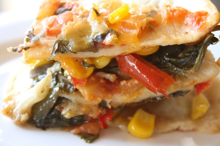 Roasted Vegetable Mexican Lasagna | Recipes:Vegetables | Pinterest