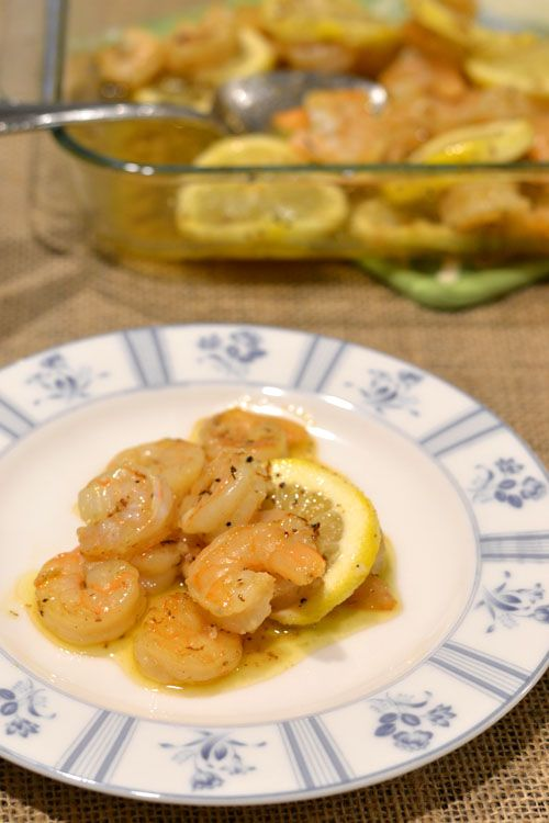 ... roasted lemon garlic herb shrimp scampi pinterest roasted lemon garlic