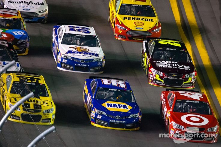 nascar race up close
