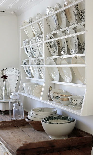 plate rack and lovely wooden trays. Black Bedroom Furniture Sets. Home Design Ideas