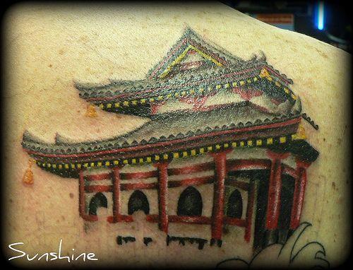 Japanese temple | Japanese Tattoos | Pinterest