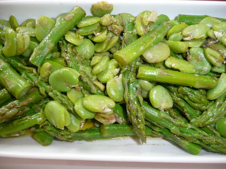 Broad (Fava) Beans and Asparagus Salad Prep Time: 10 minutes Cook Time ...