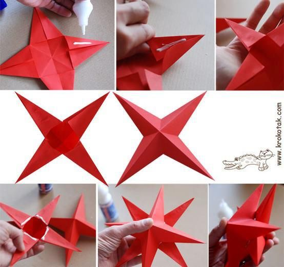 Pinterest discover and save creative ideas for How to make 3d paper stars easy