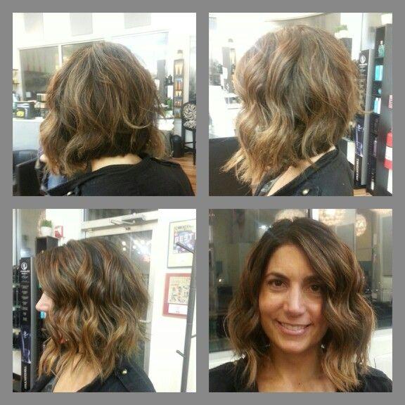 Beachy bob highlights brunette | Hair Color | Pinterest
