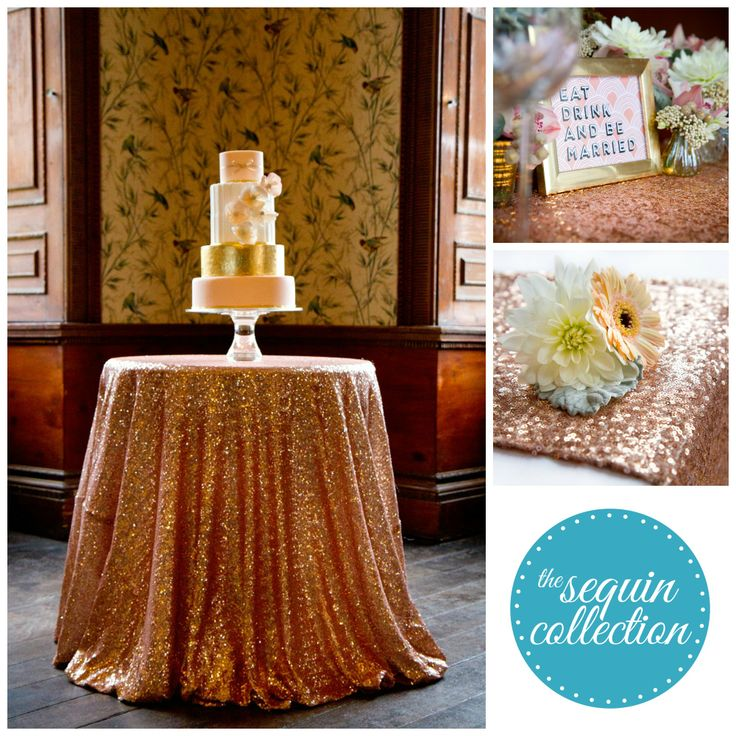 Introducing The Sequin Collection, simply stunning sequin linen hire here in the UK!  Sequin tablecloths, overlays and runners. http://puddingbridge.co.uk/sequin-table-linen/  #sequin #tablecloth #runner #glitter #wedding