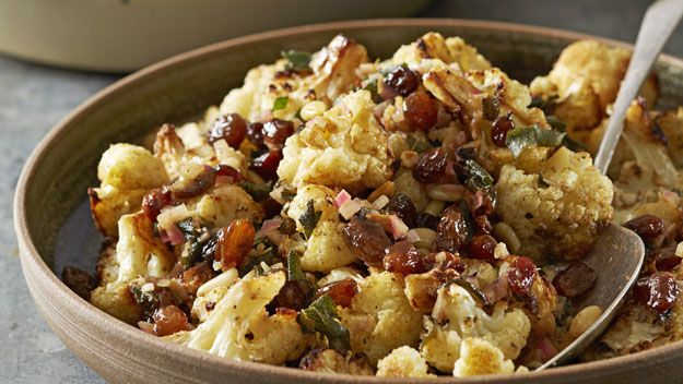 ... us how to make Roasted Cauliflower with Brown Butter-Sage Vinaigrette