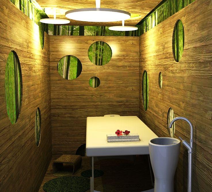 Massage interior design spa design scape creatives for Massage room interior design ideas