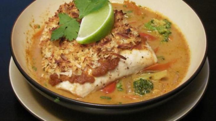 Broiled Tilapia With Thai Coconut- Curry Sauce (had this for dinner ...