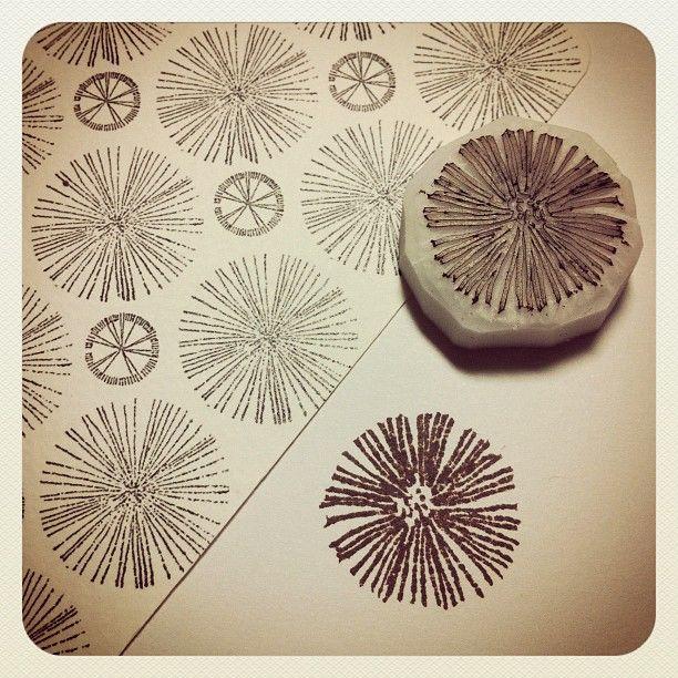 штамп из ластика
