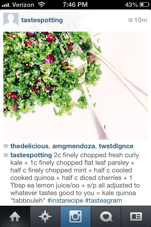 Kale Quinoa Tabbouleh | Gluten Free - Savory | Pinterest