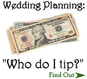 Wedding Who To Tip