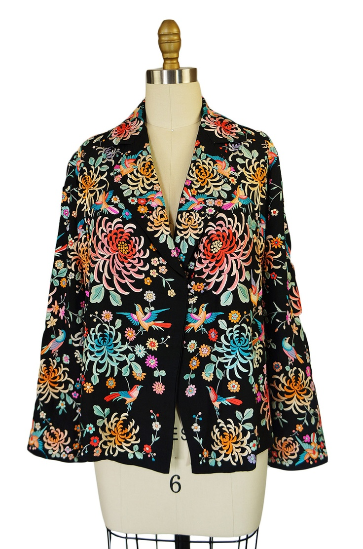 Japanese embroidered silk jacket