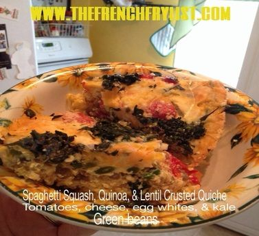 Spaghetti Squash & Lentil Crusted Quiche On my hunt to eat healthier ...