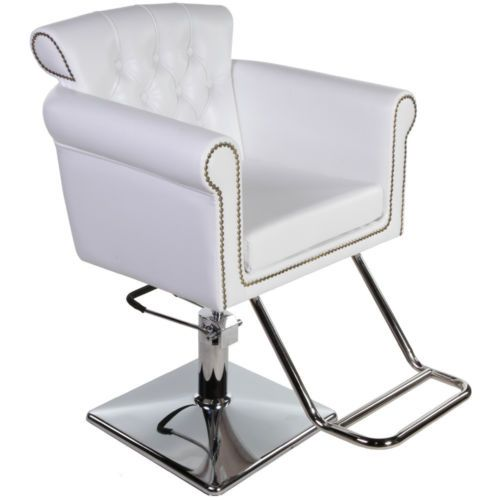 New Beauty Salon Equipment White Vintage Hydraulic Hair Styling Chair