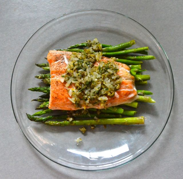 Roasted Salmon And Asparagus Salad With Mustard Vinaigrette Recipe ...