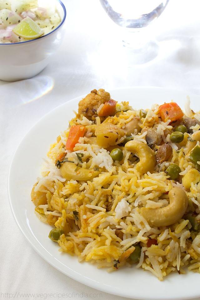 Authentic Dum Hyderabad Vegetable Biryani