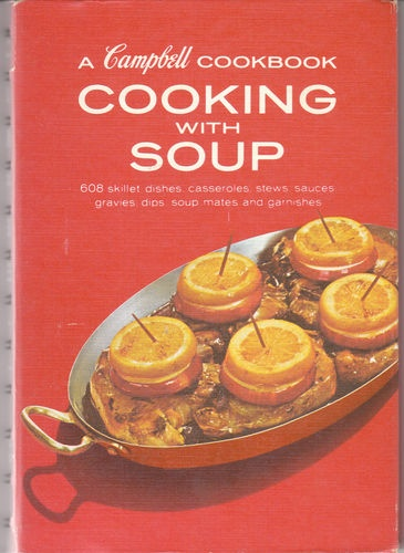 A Campbell Cookbook Cooking with Soup Vintage Campbell's Recipes Red Hardcover | eBay