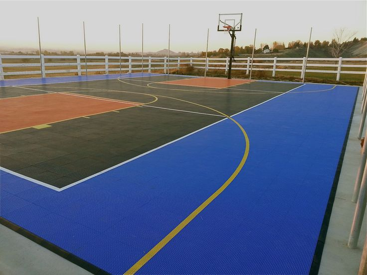 Install Basketball Court In Backyard