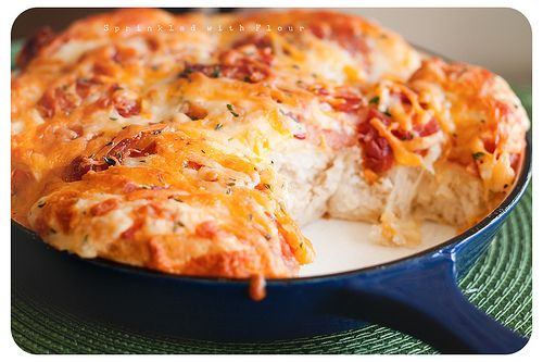 Cheesy bacon pull aparts | FOOD | Pinterest