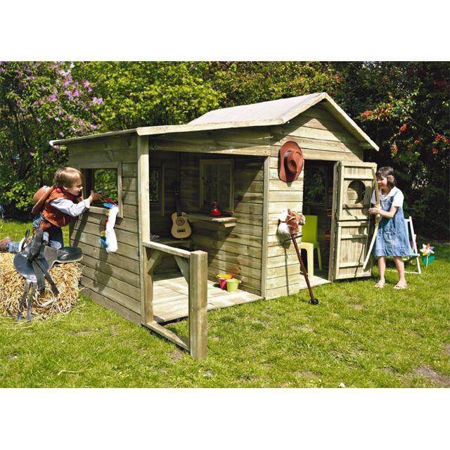 Maisonnette Bois Castorama - Maisonnette en bois Hacienda CASTORAMA Childrens Spaces Pintere u2026