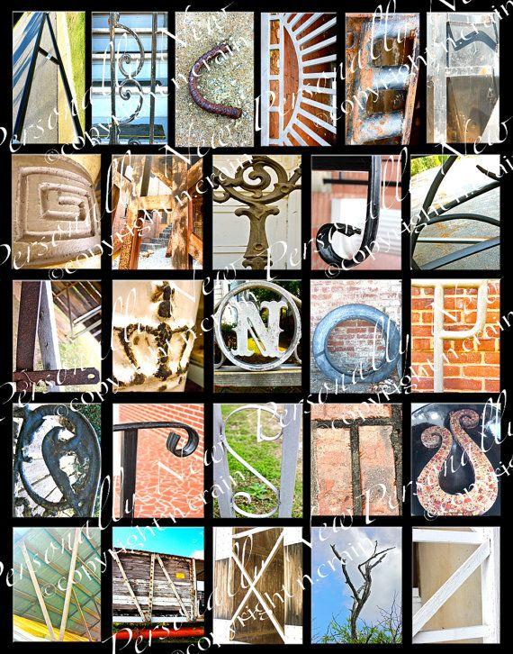 Photo Alphabet Letter Art Print | Inadvertent Letters | Pinterest
