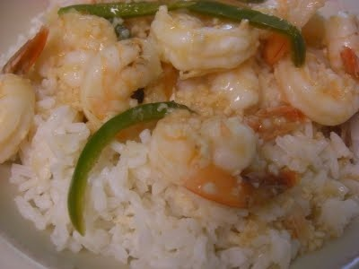 Spicy Garlic Shrimp with Coconut Rice | F o o d | Pinterest