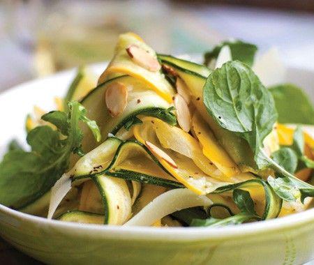 Squash Carpaccio with Arugula, Pecorino & Almonds Recipe // from Sur ...