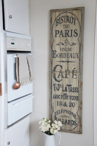 Rustic French Kitchen Sign French Design Pinterest