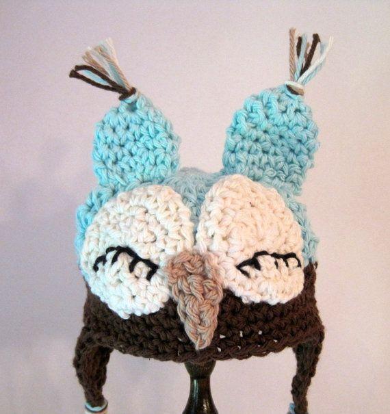 Crochet Owl Hat : Crochet Owl Hat Crafty schmafty Pinterest
