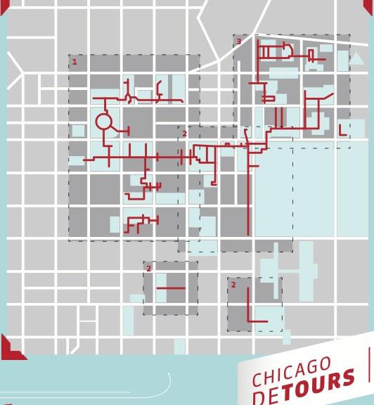 Chicago Pedway Map  Adventure Capitalist  Pinterest