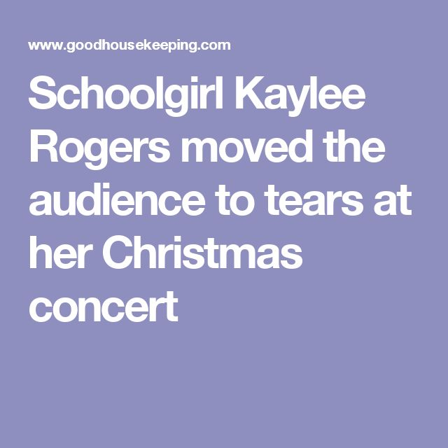 This Schoolgirl Moved The Audience to Tears At a Christmas Concert
