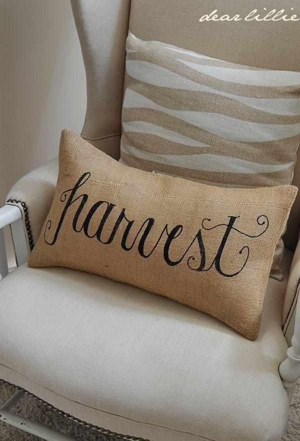 Harvest 12x20 Burlap Pillow Cover in Black