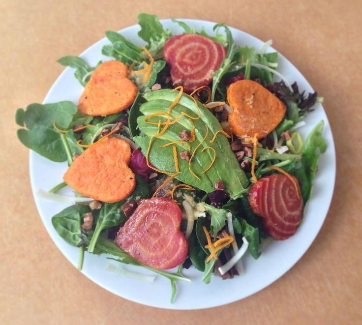Roasted Beet and Sweet Potato Salad with Ginger Dressing (gluten free ...