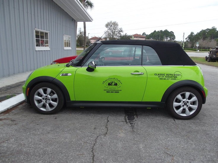 2006 Mini Cooper Convertible S Lime green bright! http://www.iseecars
