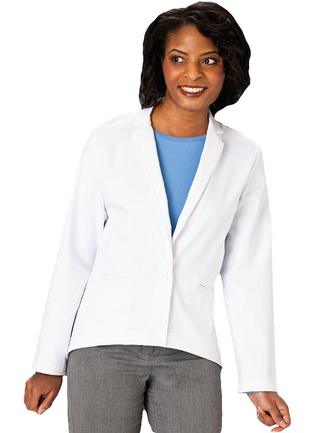 Meta features a very innovative white lab coat for women that comes in