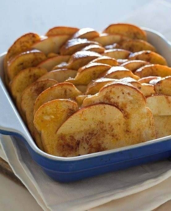 Baked apple cinnamon french toast... apple, cinnamon - could your day ...