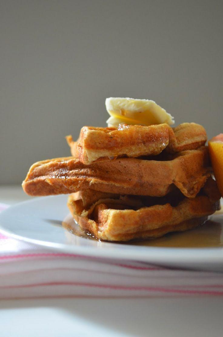 rich buttermilk waffles. - not too sweet. Good and moist.
