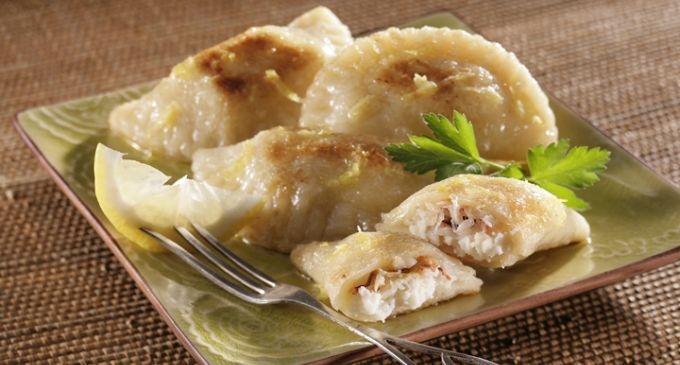 Crab and Idaho® Potato Pierogies | Recipe on idahopotato.com