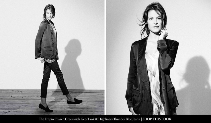 QSW Autumn 2012- The Empire Blazer, Greenwich Geo Tank & Highliners Thunder Blue Jeans