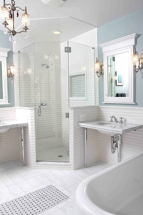 White bathrooms looks so neat master bath update for Updated master bathrooms