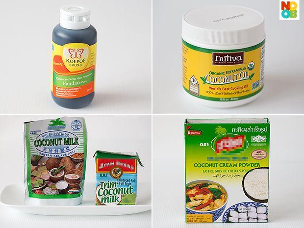 Ingredients for Pandan Waffles Recipe