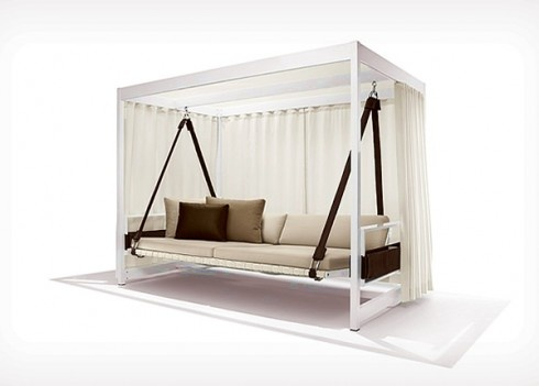 outdoor furniture-swing daybed  Ideas for the House  Pinterest
