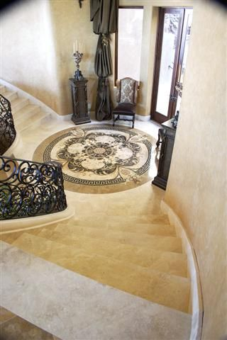 Another view of an elegant staircase from the paradise valley mansion