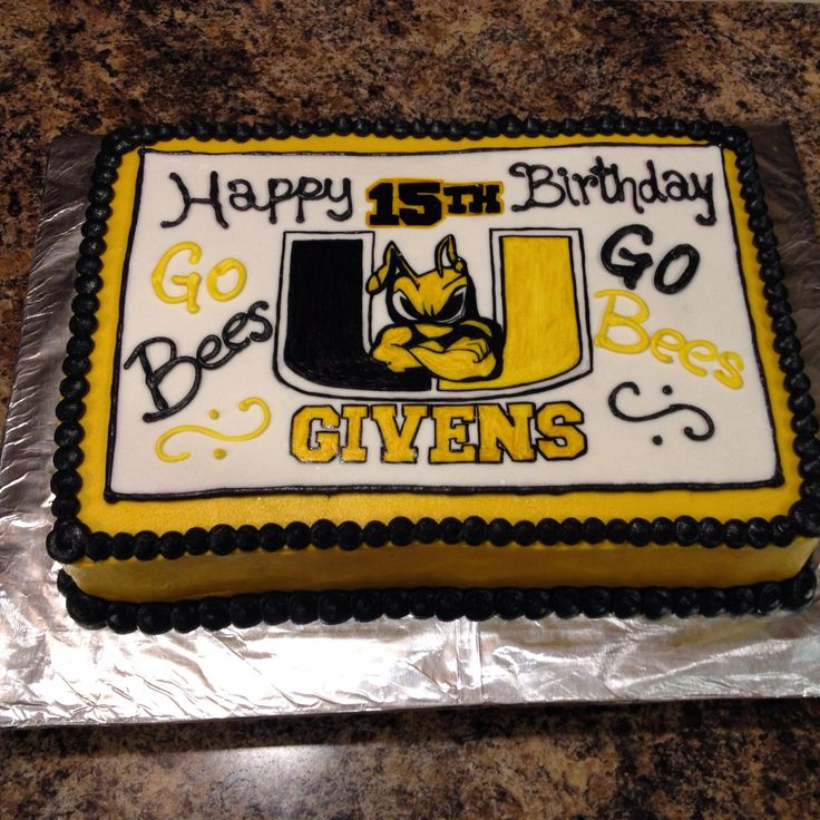 Upperman Bees Cake! Baxter,TN | My Creative Cakes | Pinterest