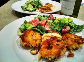 Crab and Trout Cakes with Chipotle Sauce | Food: Evening edibles | Pi ...